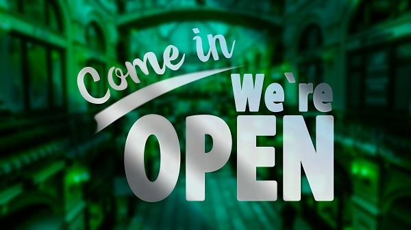 wij zijn weer open